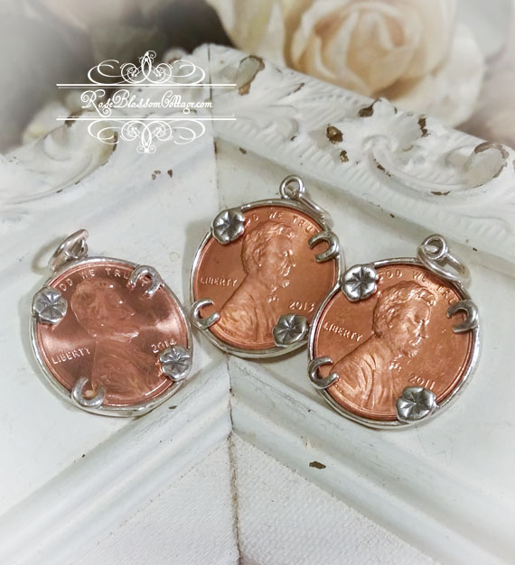 Lucky Penny Sterling Charm for Bracelet or Pendant