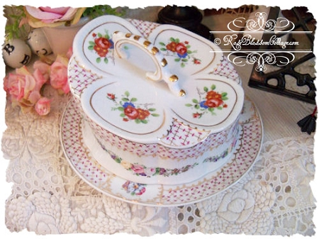 Antique Style Porcelain Cheese