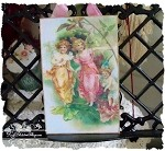 Sweet Fairies Antique Image Glitter Plaque