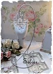 Twisted Wire Ornament Hanger -  Silver