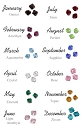 Additional Crystals for the  Birthstones Sterling Necklace