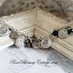 Broken China Jewelry French Postmarks Paris Charm Bracelet