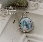 Bluebird Porcelain Sterling Edgeless Charm or Pendant