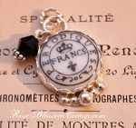 Periodiques French Antique Postmark Charm Crystal