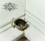 Handled Basket Small Sterling Charm