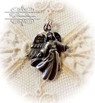 Open Arms Angel Sterling Silver Charm
