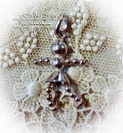 Beaded Girl Charm Sterling silver Charm