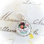 DeStash Backstamp Porcelain and Sterling Back Stamp Charm