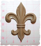 Fleur de Lis Large Furniture Applique
