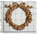 Ribbon Wreath Roses Onlay DIY Furniture Applique