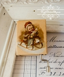 Hurdy Gurdy Christmas Xmas Child on a Sleigh - Toy Land