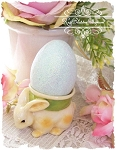 Darling Bunny Rabbit Egg Cup for Easter Set of 3