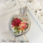 Old Country Roses Royal Albert Sterling Broken China Jewelry Pendant Necklace