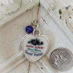 Sweet Violets Royal Albert  Broken China Jewelry Sterling Necklace (Choice)