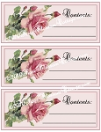 Pink Roses Container and Bag Labels Download