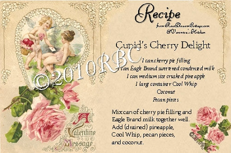 FREE Cupid's Cherry Delight Recipe Card Download