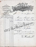 Antique French Angel Invoice Paris Print