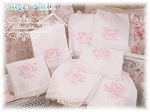Days of the Week Embroidery Pink China Huck Towels Set 7