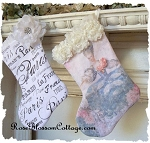 LAST ONE Marie Antoinette Roses Christmas Xmas Stocking
