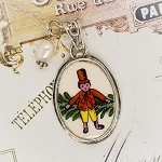 Spode Broken China Jewelry Spode Christmas Toy Soldier Pendant Necklace