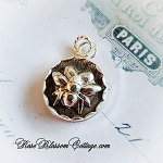 Honey Bee Sterling Scalloped Charm