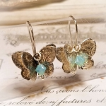 Dimension Patterned Sterling Butterfly Earrings