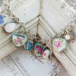 Ashlynn Broken China Jewelry Charm Bracelet