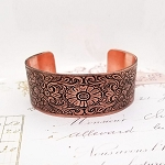 Antiqued Copper Cuff Bracelet Medallion