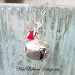 Jingle Bell Sterling Silver Christmas, Xmas Petite Charm Necklace Pendant