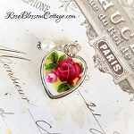 Old Country Roses Petite Charm Broken China Jewelry