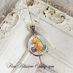 Winnie The Pooh Broken China Jewelry Royal Doulton Pendant Necklace