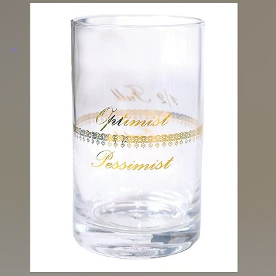 Optimist or Pessimist Glass  1/2 Empty 1/2 Full Gift