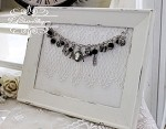 Jewelry Bracelet Frame Display Linen and Lace