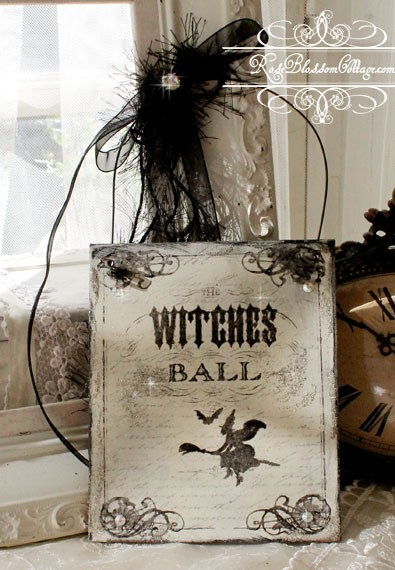 The Witches Ball Plaque Glitter, Crystals Halloween