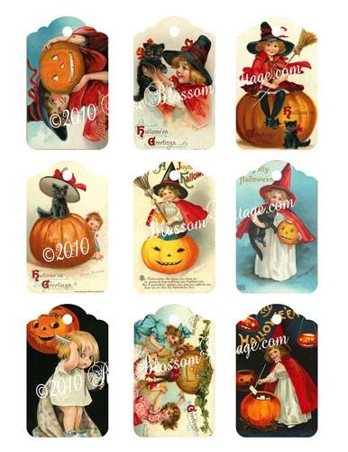 Halloween Gift Tags.Halloween Gift Tags Digital Download