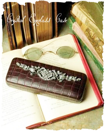 SALE Faux Croc & Crystal eyeglass case