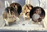 Victorian Romantic Porcelain Mini Plates Set of 4