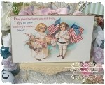 Sweet Little Patriotic Boy & Girl Plaque