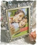 Pearly and Crystal Jeweled Frame