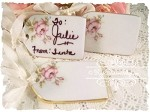 Porcelain Roses Gift Tags Set of 3