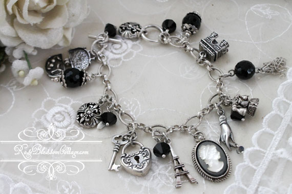 Parisian Inspired Collector Charm Bracelet Sterling
