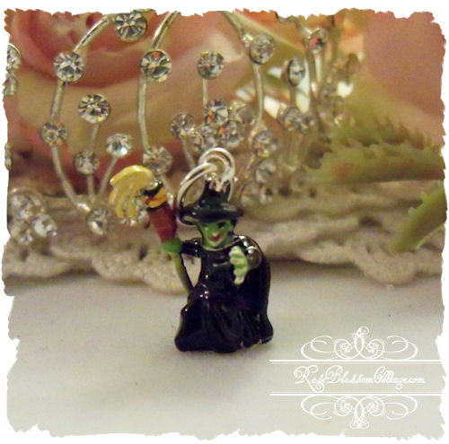 Bad Witch Enamel Sterling Charm