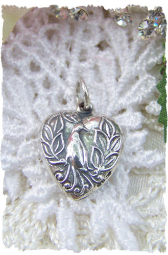 Peacock Sterling Silver Charm