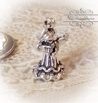 Angel with praying bowed head Sterling Silver Charm