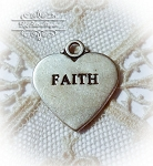 Faith Sterling silver Pendant Charm