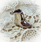 Drum Major Marching Band Boot Sterling Silver