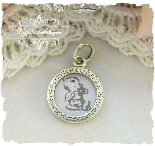 Sterling DIY Round Photo charm