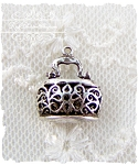 Sterling Lacy Purse Charm