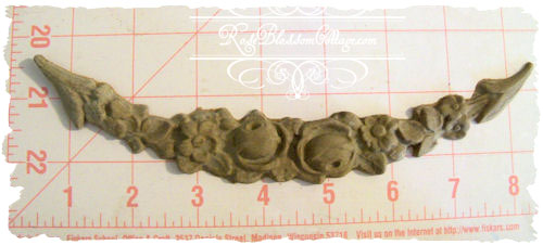 Furniture Applique Long Rose Swag