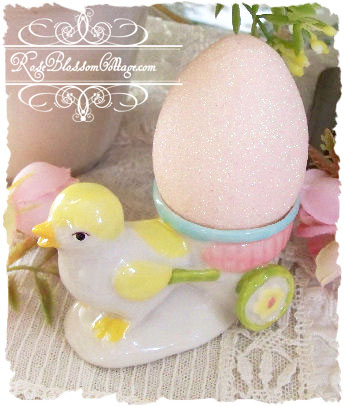 Easter Chick Cart Egg Cup  Set 3